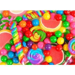 Bunte Süßigkeiten - Tischset aus Papier 44 x 32 cm