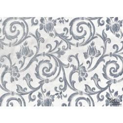 "Tischsets | Platzsets - Muster ""silber"" aus Papier - 44 x 32 cm"