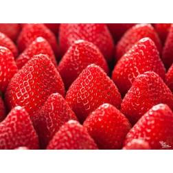 "Tischsets | Platzsets - Saisonal ""Erdbeerspitzen"" aus Papier - 44 x 32 cm"