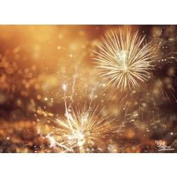 """Tischsets   Platzsets - Silvester """"Feuerwerk bronze"""" aus Papier - 44 x 32 cm"""