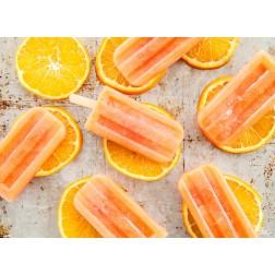 Tischset | Platzset - Orangeneis - aus Papier - 44 x 32 cm