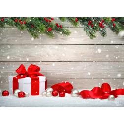 Tischsets | Platzsets - Geschenk im Schnee - aus Papier - 44 x 32 cm