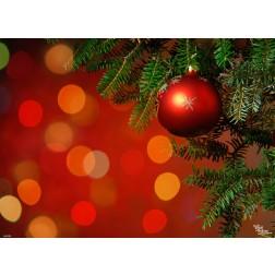 Tischsets | Platzsets  - Rote Weihnachtskugel - 44 x 32 cm