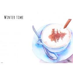 Tischsets | Platzsets - Winter Time - aus Papier - 44 x 32 cm