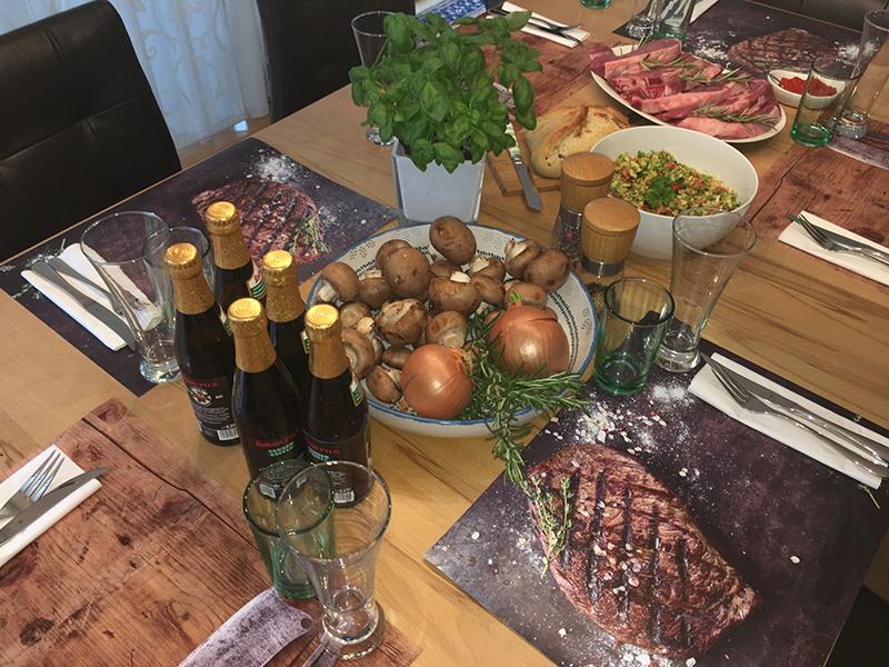 Steak mit Gewürzen